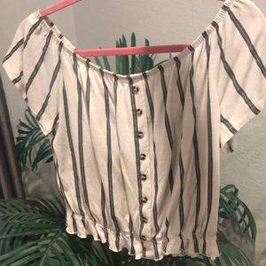 """striped loose """"blouse"""""""